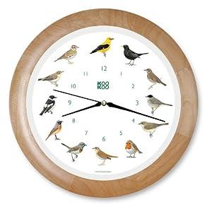 Wanduhr Singvögel Holzrahmen    Kundenbewertung: