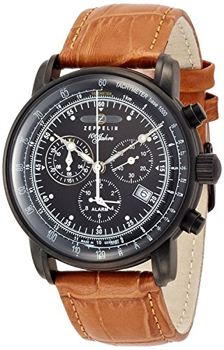 ZEPPELIN-watch-German-Military-LSeries-Black-Dial-Stainless-Steel-Case-Chronograph-Date-76781-Mens-regular-imported-goods