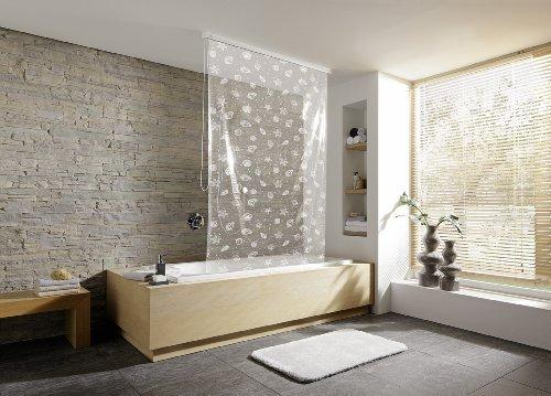 Kleine Wolke, Tenda a rullo per doccia, Bianco (Weiß), 128 x 240 cm