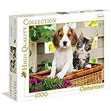 Clementoni - Puzzle de 1000 piezas, High Quality, diseño El Perro Y El Gato (392704)