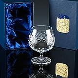 2�x Inverness 10oz Panelled Crystal Brandy Glass en caja de regalo, regalo perfecto para una ocasi�n especial