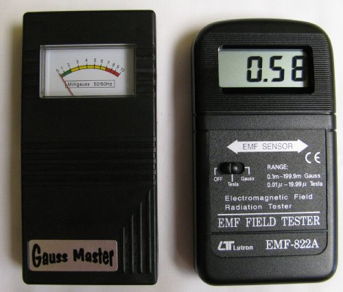 Gauss Master & 822a Digital EMF Meter Combo (Digital Gauss Meter compare prices)