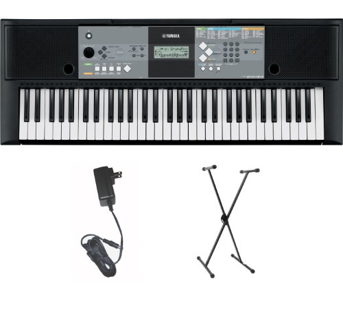 Yamaha Psr-E233Ms Portable Keyboard W/ Ac Adapter And Stand