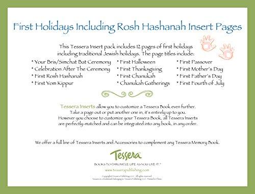 Tessera Baby Books Baby Memory Book Insert Pack, Baby's First Holidays, Jewish