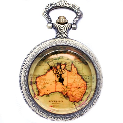 b.still Pocket Watch with Chain for Men and Women   Bronze (Waltham Mens Watch compare prices)