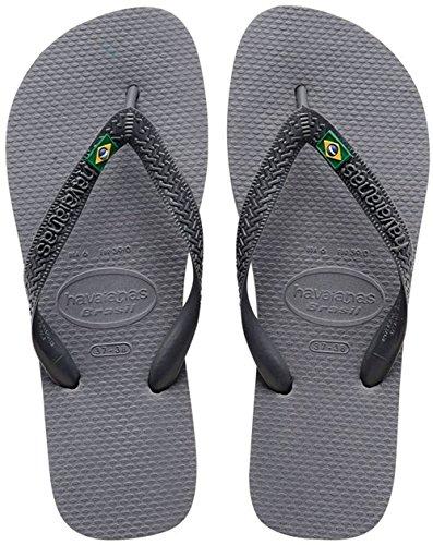 Havaianas Brasil Infradito, Unisex-Adulto, Grigio (Steel Grey), 43/44 EU (41/42 BR)