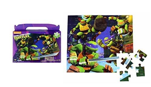 """TMNT Teenage Mutant Ninja Turtles Floor Puzzle Gift Box (48-Piece) 9.1"""" X 10.3"""""""