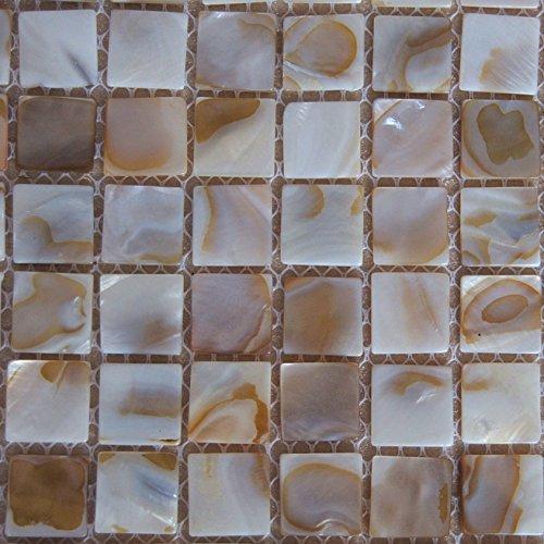 Piastrelle a mosaico in madreperla, effetto letto di fiume Nature perla a mosaico per piastrelle da bagno, piscine, spa, Backsplashes Walls-One Sheet