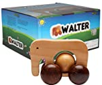 Ecojoy Walter Wooden Pull Toy Brown