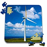 Danita Delimont - Windmills - Hawaii, Windmill with Pacific Ocean - US12 TGI0011 - Todd Gipstein - 10x10 Inch Puzzle (pzl_89958_2)
