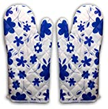 Aj Creations High Quality Microwave Oven Pad Heat Proof Hand Gloves In Set Of 2 Gloves