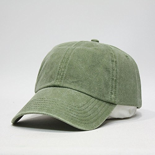 Plain Washed Cotton Twill Baseball Cap With Adjustable
