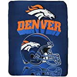 "Denver Broncos Lightweight Fleece Blanket (Reflecting Helmet, 50""x60"")"