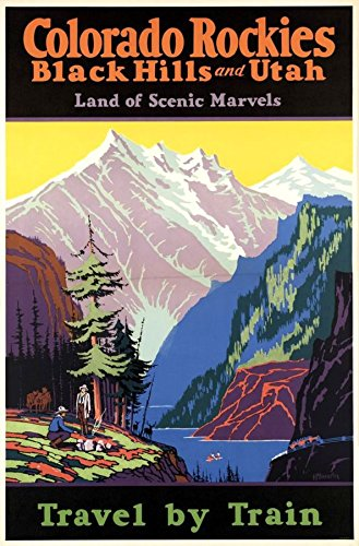 colorado-rockies-wonderful-a4-glossy-art-print-taken-from-a-rare-vintage-railway-poster