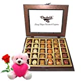 Valentine Chocholik Belgium Chocolates - Delicious Treat Of Best Chocolates With Teddy And Rose