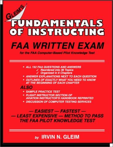 Fundamentals of Instructing FAA Written Exam