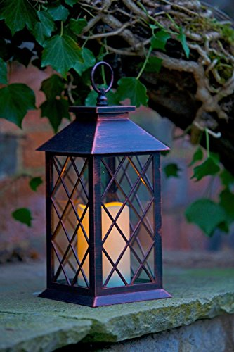 Smart Garden Battery Operated Lattice Lantern LED Candle