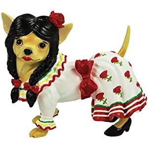 Aye Chihuahua Mexican Dancer Figurine