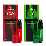 Ice Atomizer Travalo Christmas Holiday Special Combo, Red-Green, 2 Piece