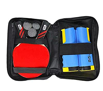 Lionlaw Performance Table Tennis Set with Paddles and Balls and Net To Go