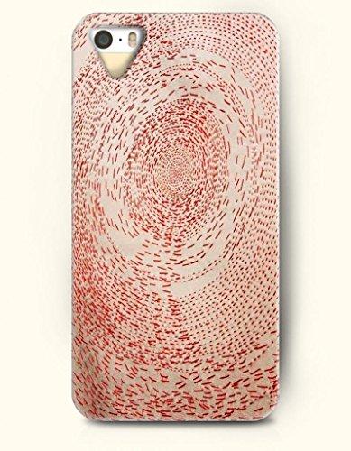 Oofit New Apple Iphone 5 / 5S Hard Back Case - Mandala Circle - Red Beige Dots Made Mandala Circle