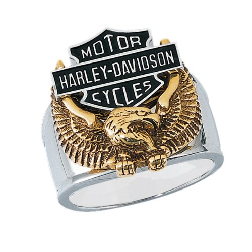 Stainless Steel Harley-Davidson Men's Wings of Freedom Ring