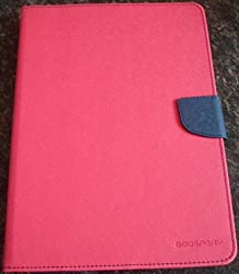 DW Mercury GOOSPERY Fancy Diary CARD Wallet Flip Case Back Cover for APPLE iPad 5 / iPad Air - Pink