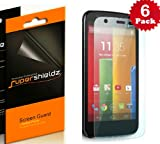 SUPERSHIELDZ- High Definition (HD) Clear Screen Protector For Motorola Moto G + Lifetime Replacements Warranty [6-PACK] - Retail Packaging