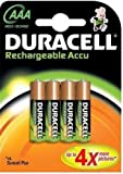 8 x AAA Duracell Rechargeable 750mAh Batteries Battery new
