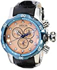 Invicta Reserve Mid-Size Venom Swiss Made Quartz Chronograph Leather Strap Watch 10824