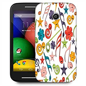 Snoogg Smiley Strings Designer Protective Phone Back Case Cover For Motorola E2 / MOTO E22