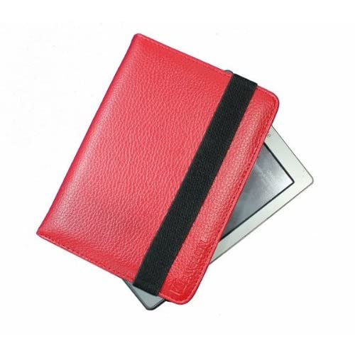 SAVEICON Red kindle 4 leather case Cover for Latest Generation 2011 Kindle 4 Wi Fi 6 Inches (NON TOUCH)