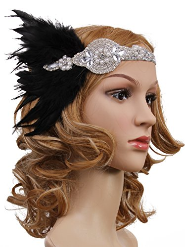 Vijiv-Vintage-Black-Feather-Silver-20s-Headpiece-1920s-Flapper-Headband