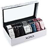 Set de Relojes XOXO XO9024 para Mujer, con siete colores intercambiables, pulsera de cocodrilo/Serpiente.