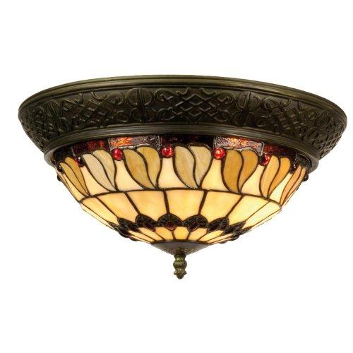 """Lampada da soffitto, plafoniera in Tiffany-Stil """"Heino anello"""" 19 x 38 cm"""