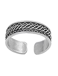 Sterling Silver Toe Ring - Bali Design