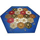 Settlers of Catan Wooden Game Board Replacement With Expansion Pack - Laser Cut and Engraved