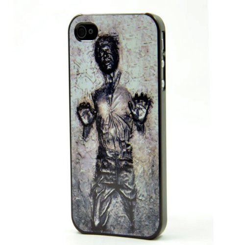 Han Solo Frozen in Carbonite Apple iPhone 4 4S Black Case STAR WARS + Screen Protector