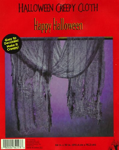 Halloween Black Creepy Cloth 84 in x 30 in