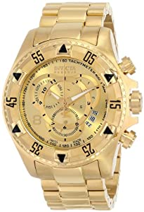 Invicta Men's 6471 Excursion Reserve Chronograph 18k Gold Ion-Plated Stainless Steel Watch