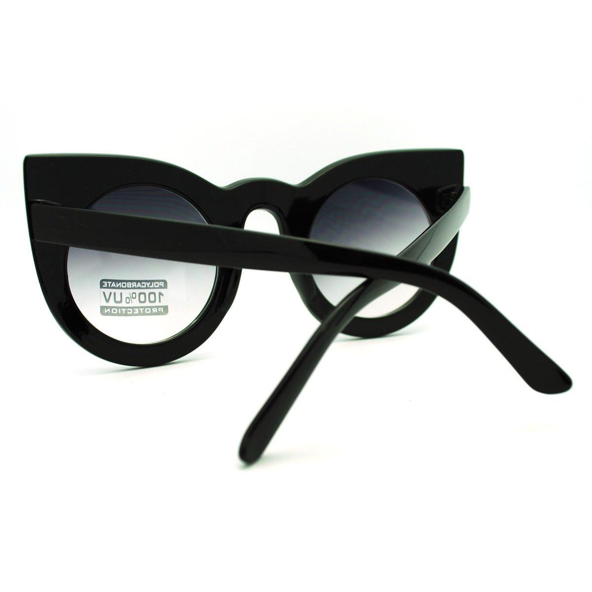 Oversized Round Cateye Sunglasses Womens Vintage Retro Eyewear 3