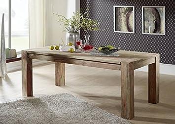 Table de salle à manger en bois de palissandre massif 200 x 100 bois nature grey de meubles bIG#406
