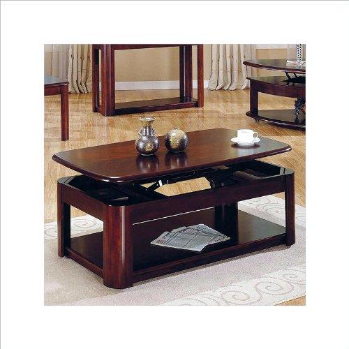 Steve silver lidya rectangular cherry wood lift top coffee for Cherry wood lift top coffee table
