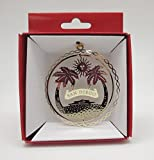 San Diego California Brass Christmas Ornament