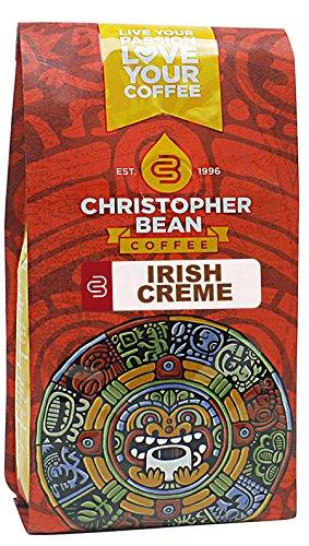 Christopher Bean Coffee Flavored Whole Bean Coffee, Irish Creme, 12 Ounce