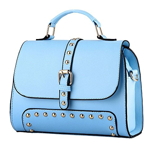 koson-man-womens-vintage-buckle-sling-tote-bags-top-handle-handbagblue