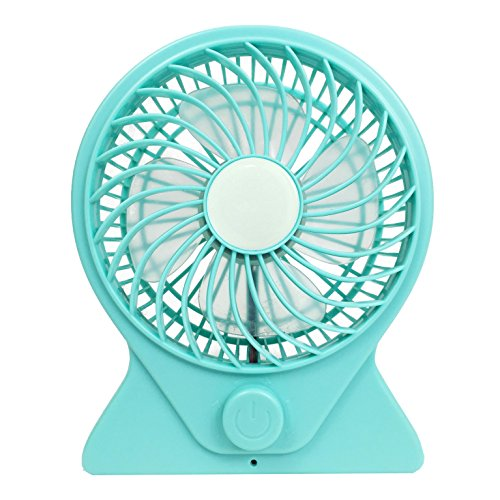Teal USB Fan - Cooling fan USB - Home Or Office Table or Desktop - Battery Powered and Charged via USB - Quiet Operation With Variable Speed (Desk Fan Teal compare prices)