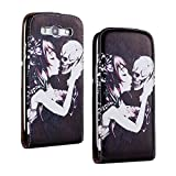 SuperStore_Electronics(TM) Stylish Printing Retro Style Durable Slim-Fit Flip PU Leather Protective Defense Stand Case Cover Compatible For Samsung i9300 Galaxy S3 III (belle skull love)