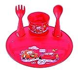 Disney Baby 80800753 - Lote de vajilla, diseño Fun Puzzle Cars, para 4-36 meses