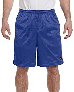 Champion 3.7 oz. Long Mesh Shorts with Pockets S ATHLETIC ROYAL